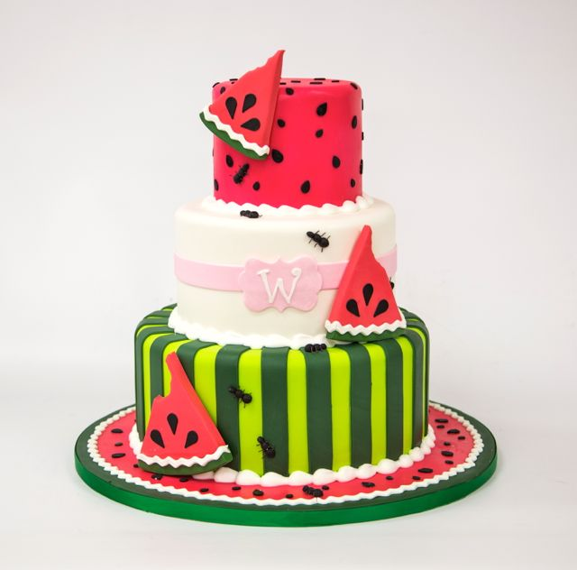 Two of our favorite #summersweets combined: watermelon and cake!