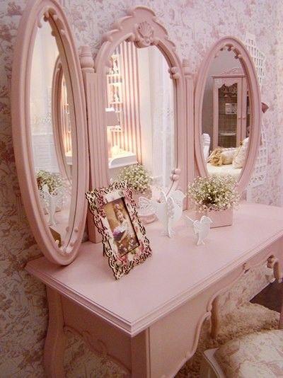 Penteadeira rosa quartzo
