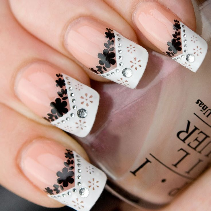17 Best Ideas About Two Color Nails On Pinterest