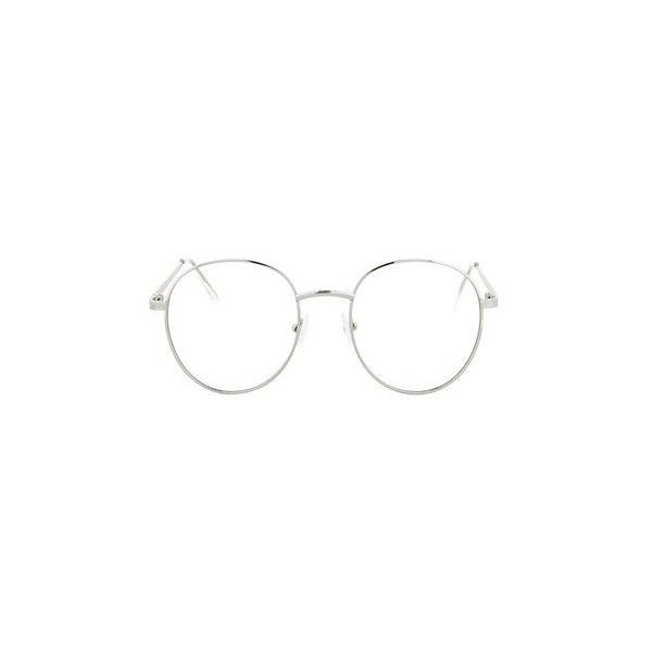 Topshop Romeo Metal Preppy Reading Glasses ($15) ❤ liked on Polyvore featuring accessories, eyewear, eyeglasses, glasses, silver, round glasses, reading glasses, rounded glasses, round eye glasses and preppy glasses