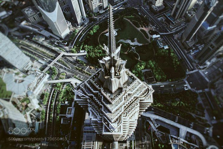 Jin Mao Tower by BlackStation. @go4fotos