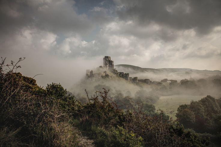 Corfe castle, Dorset, England. by Michael Marsh