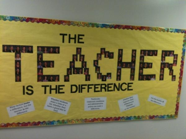 The Teacher is the Difference... and I'm lucky to know so many wonderful ones. Here's to all of them!!!
