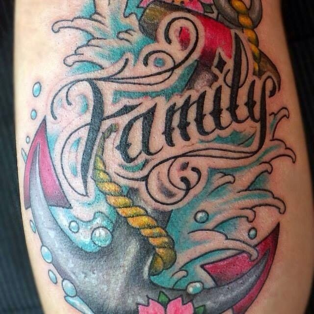 Family Anchor Tattoo | Venice Tattoo Art Designs