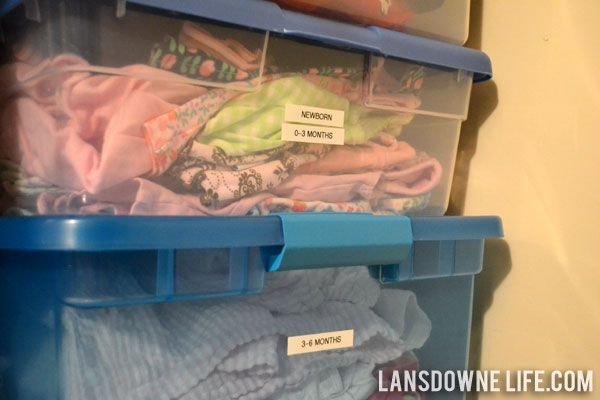 Organizing and storing baby clothes   Lansdowne Life