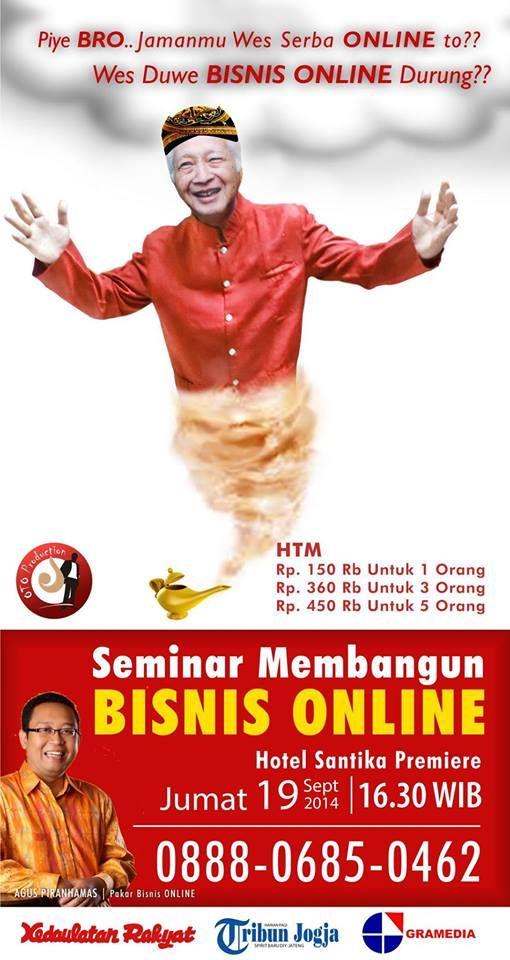 Seminar MEMBANGUN BISNIS ONLINE  19 September 2014 HOtel Santika Premiere Jogjakarta