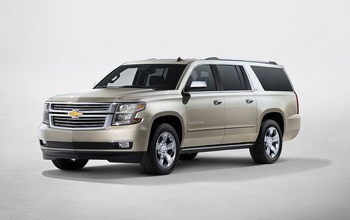 General Motors has waited patiently for a moment at this year's Frankfurt Motor Show to drop curtains with a completely new generation fullsize SUV models under the Chevrolet and GMC brands . These are models in 2015. model year and comes to the Che