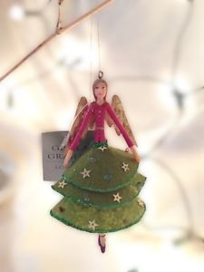 Gisela-Graham-Christmas-Fairy-Decoration-Reain-Angelic-Fashions-Fabric-11cm