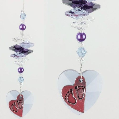 Baby Suncatcher 4 - BBSC004 - Crystal Suncatchers, Stick on Stained Glass, Leadlight Adhesive Overlay - Just Like Leadlight