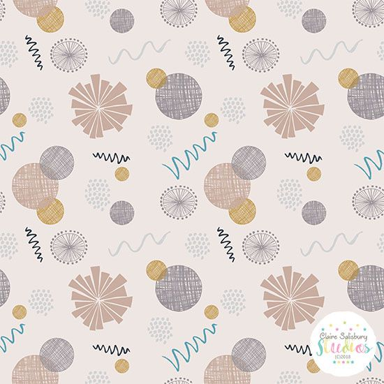 Squiggles and Doodles surface pattern created during #makeitondesign #winterschool2018