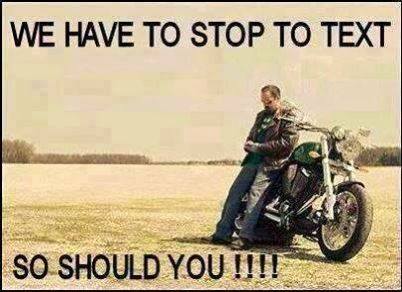 Image result for biker texting on whatsapp