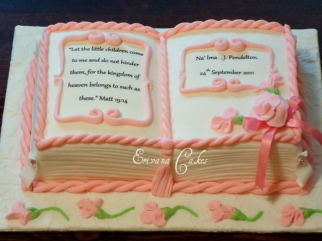 """Bible baptism cake cake 4 (SP169) - could be a good idea for a little girls birthday cake, made in the idea of a FAIRY TALE...""""once upon a time..."""""""
