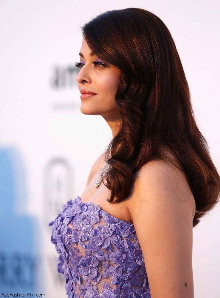 Gorgeous Aishwarya Rai with radiant skin and lavender eyeshadow at Cannes amfAR's 22nd Cinema Against AIDS Gala. #cannes #amfar