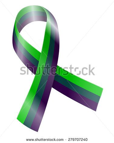purple teal green ribbon = Medullary Sponge Kidney I didn't know there was a ribbon for what I have!