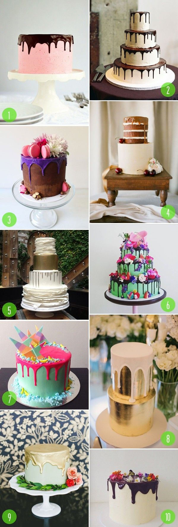 Top 10: Drizzled wedding cakes