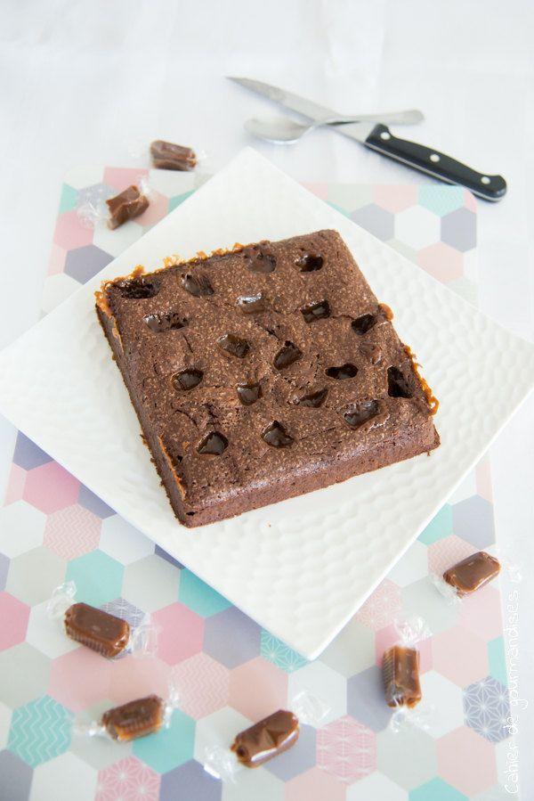 Brownies chocolat et caramel au beurre salé | Recette ...