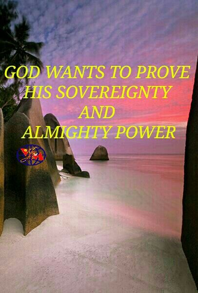 INSPIRATION: GOD WANTS TO PROVE HIS SOVEREIGNTY AND ALMIGHTY POWER.  ... 'Is it because there is no God in Israel, that you go to inquire of Baal Zebub, the god of Ekron? (2 Kings 1:3)  God expects, Him to be inquired and want to prove that He is Almighty and all powerful to answer all your problems.He is   Omnipotent,  Omnipresent and  Omniscience.  Enquire Him and Trust in Him. He wants to answer and change things. He is jealous of his sovereignty and zealous for you, His people.