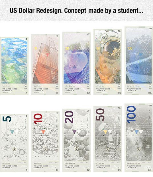 What one student thinks US currency should look like...