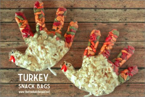 Thanksgiving snacks, Snack bags and Thanksgiving on Pinterest