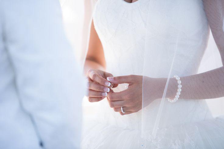 Royal Ambassador wedding ceremony ring exchange