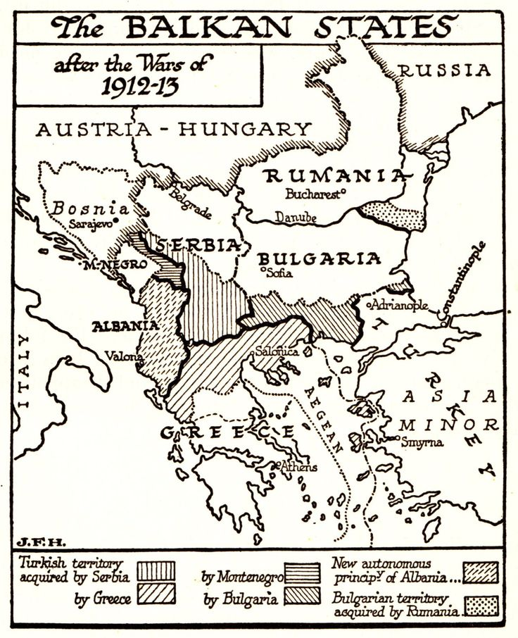 Balkan States After the Wars of 1912-1913