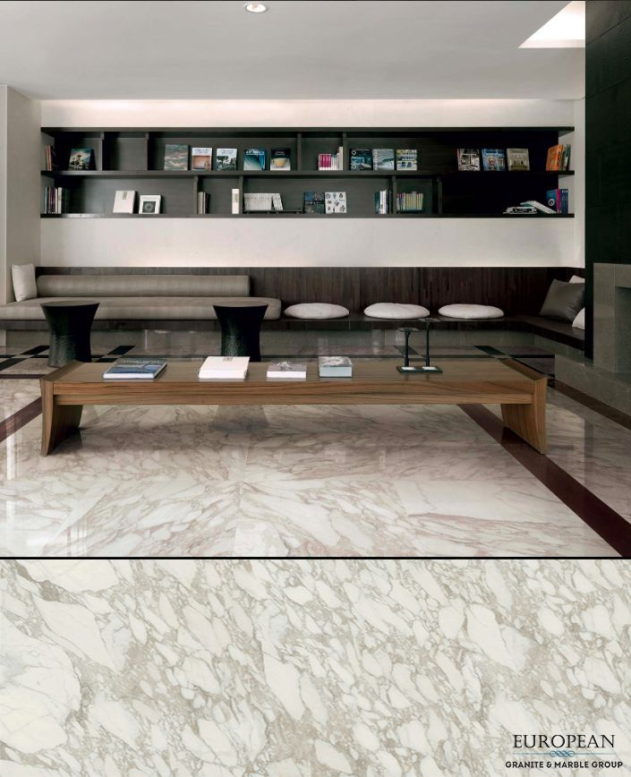 Florim - our new line of luxury porcelain tiles - is featured in this stunning living room floor in the Calacatta Rex Polished design.  As shown in this marble-like design, our Florim collection has high aesthetic yield, and is able to be used on both floors and walls.  Find out more information here: http://www.egmcorp.com/florim/calacatta-rex-polished