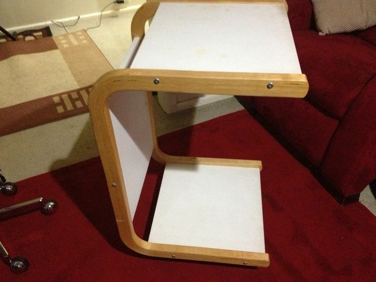 Ikea Over Bed Table Wheels Food Serving Laptop Paper