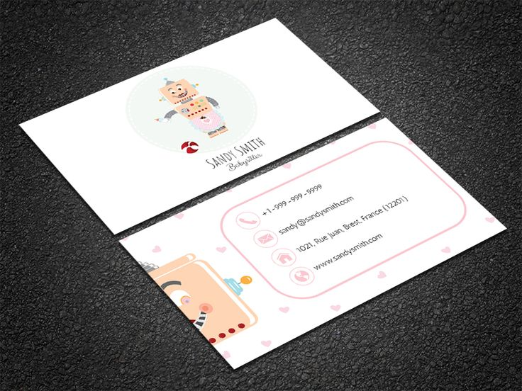 35 best free professional business card edit online and download customize this adorable robot themed babysitting card template online with your images and reheart Gallery