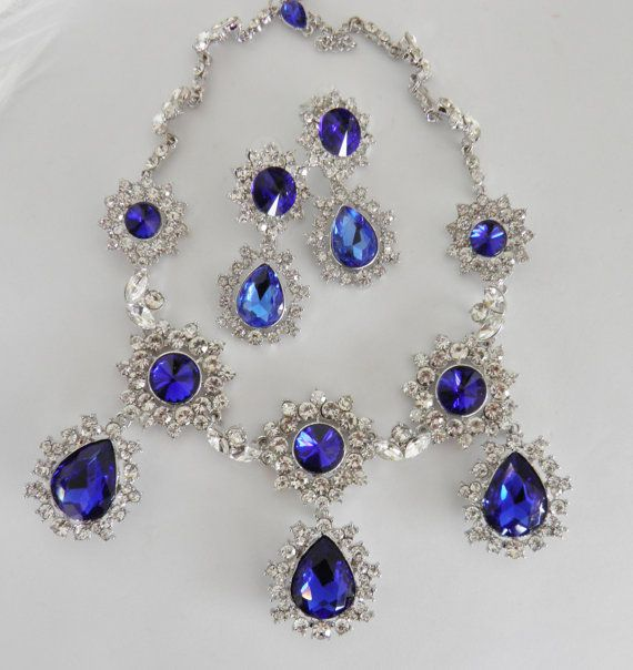 Breathtaking Sapphire and Diamond Look by veryfrenchbydesign, $195.00