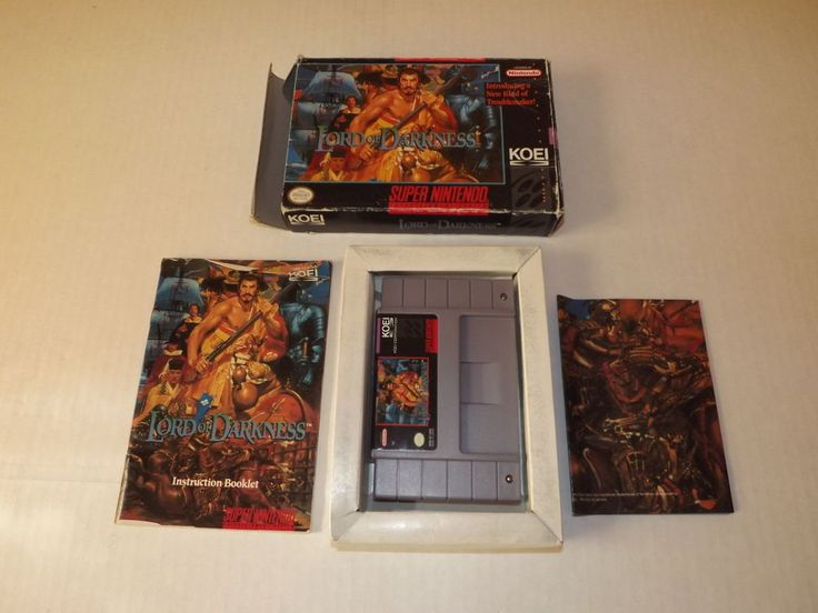 Nintendo SNES: Nobunaga's Ambition: Lord of Darkness Complete (Tested) C.I.B.