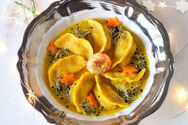Tortelli di pesce in brodo dorato ricetta cucina italiana for Cucina italiana pesce