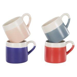 Nada Set of 4 Mugs,  Multicoloured Matt Glaze   made.com
