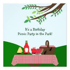 Resultado de imagen para picnic invitacion