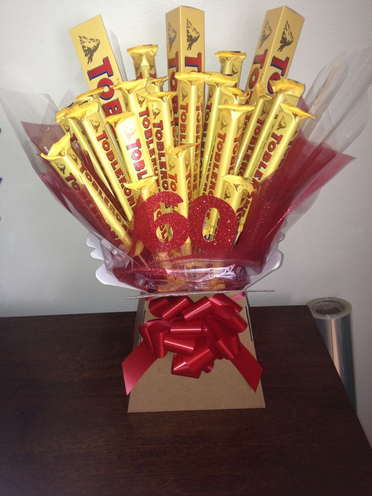 Toberone chocolate bouquet