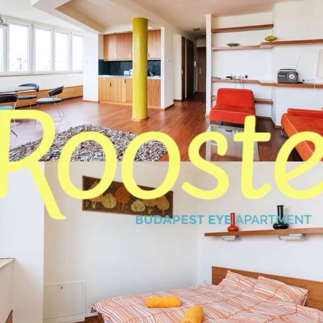 Unique, one bedroom modern apartment with stunning panoramic views of Budapest from your living room. #airbnb http://www.rooste.co/fPrLK