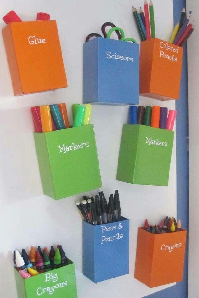 Para organizar los colores, crayones, tijeras y material de tus nenes o tuyo
