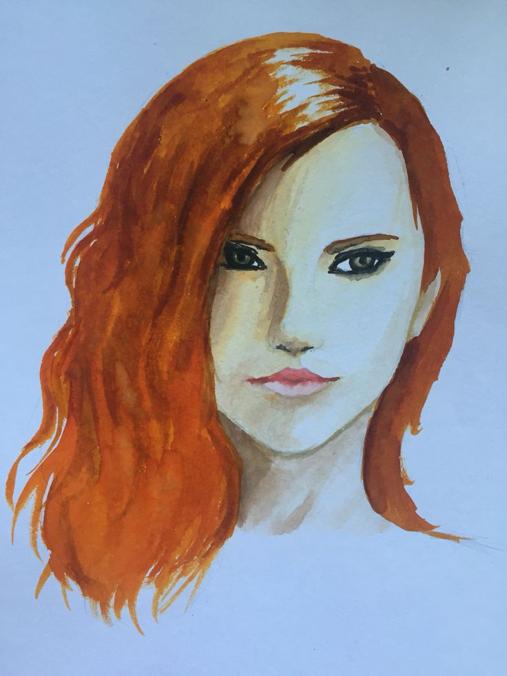 By GoldFinch :3     Female, drawing, face, portrait, head, watercolours