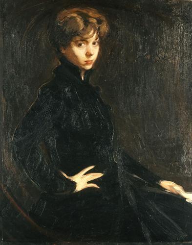 Portrait of Mlle.M. Horsch - Nikolaos Lytras
