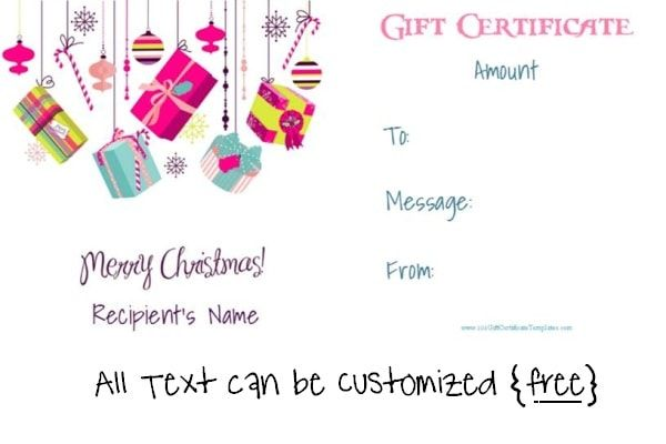 1000 images about christmas gift certificates on pinterest