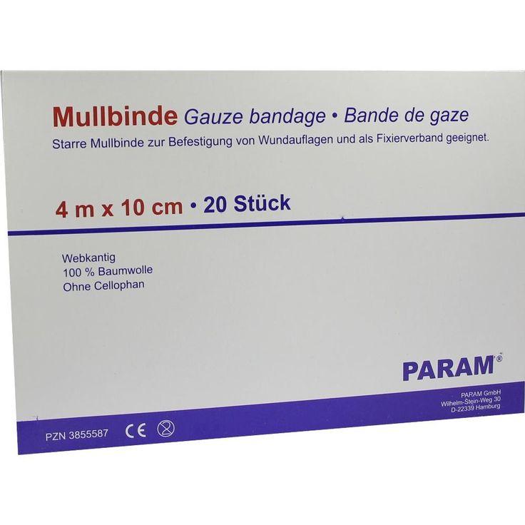 MULLBINDEN 10 cm o.Cellophan:   Packungsinhalt: 20 St Binden PZN: 03855587 Hersteller: Param GmbH Preis: 6,69 EUR inkl. 19 % MwSt. zzgl.…