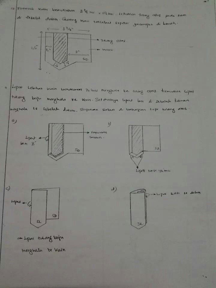 Sewing baju melayu - neckline placket