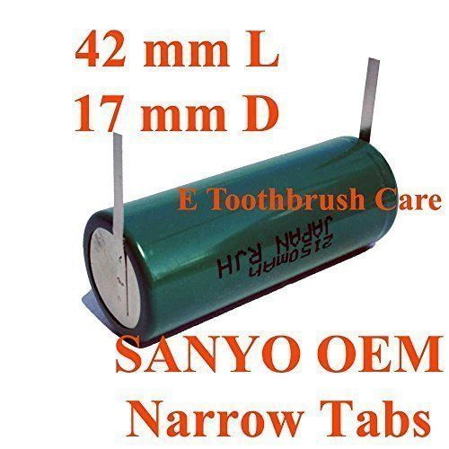 Replacement Battery Compatible with Braun Oral-b Triumph Professional Care Toothbrush, Sanyo Ni-MH 2150 mAh, 42 mm Long, 17 mm Diameter