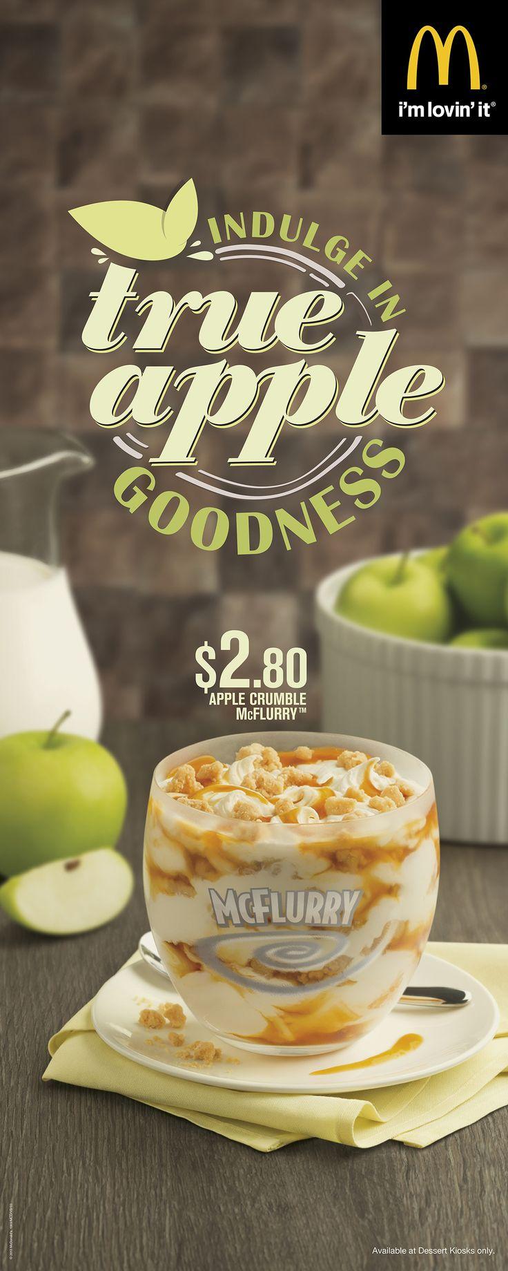 McDonald's Apple Crumble McFlurry