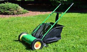"NaturCut Classic HD 16"" Push Reel Lawn Mower with Bonus Grass Catcher"