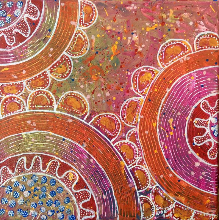 Acrylic and paint marker on canvas by Lise Holt
