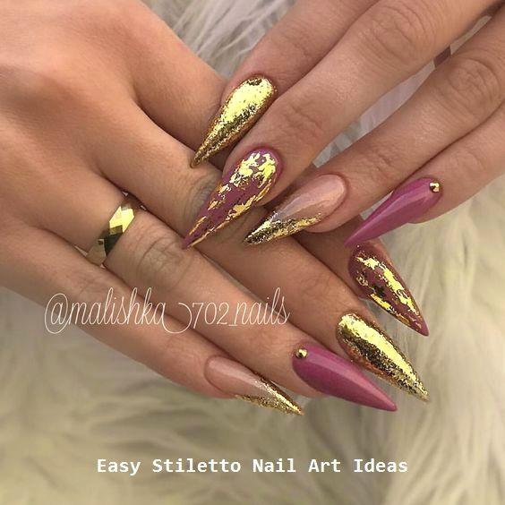 30 große Stiletto Nail Art Design-Ideen #nailart #naildesigns – Stiletto Nail art
