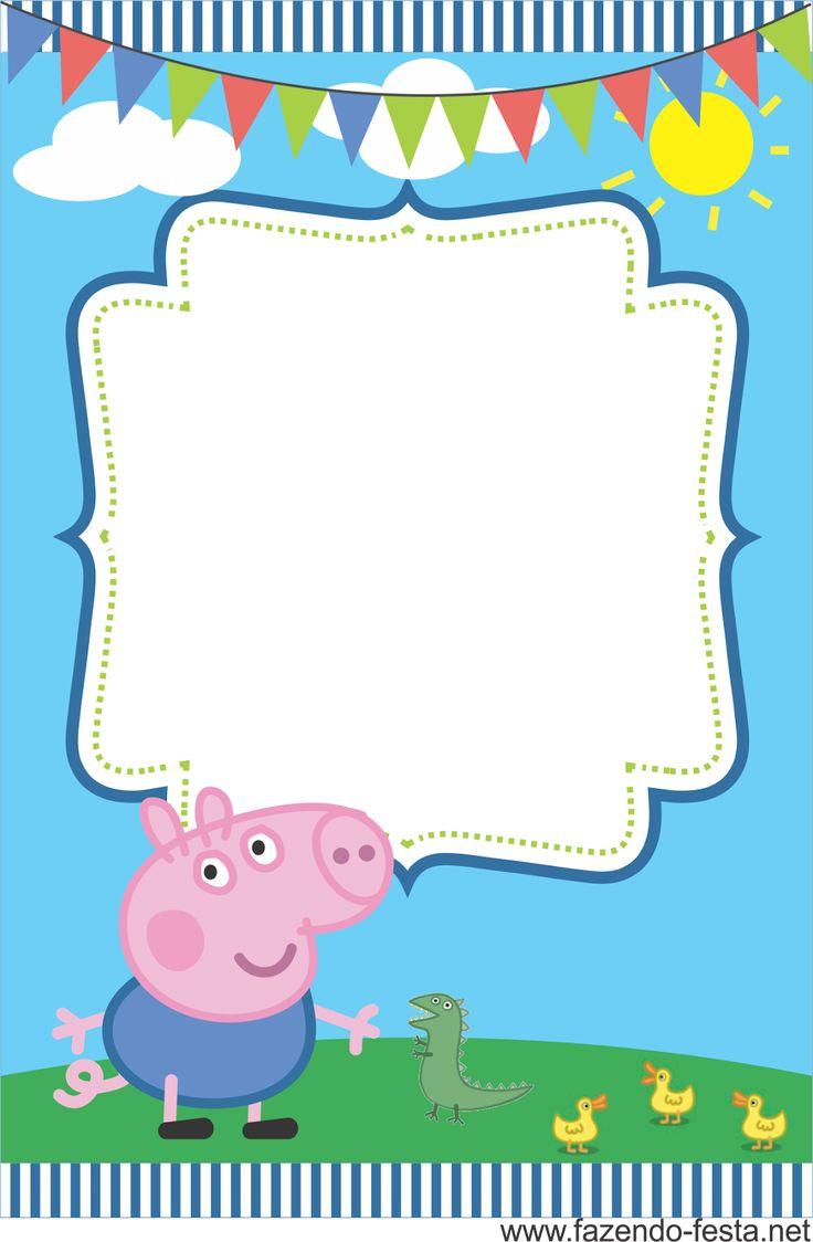 Convites gratuitos da Peppa Pig - Dicas pra Mamãe                                                                                                                                                                                 Mais