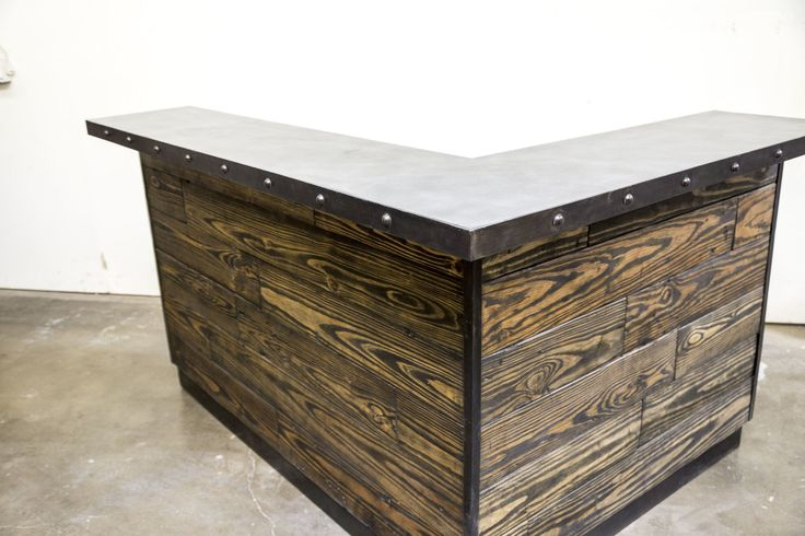Custom Home Bar Made With Reclaimed Wood Made In America By Planks Usa Orange County Ca