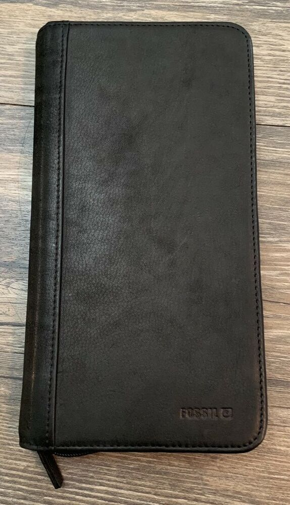 huge selection of 0c194 16203 Fossil Passport Case Black Leather*NWOT in 2019   My Favorite ...