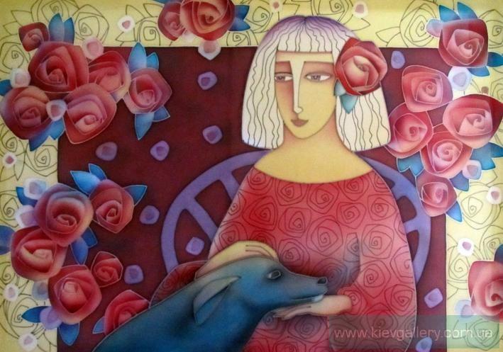Картина «Голубая собака», Художник Лукаш Лариса